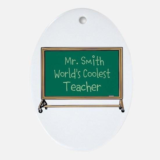 World's Coolest Teacher Ornament (Oval)
