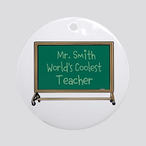 World's Coolest Teacher Ornament (Round)