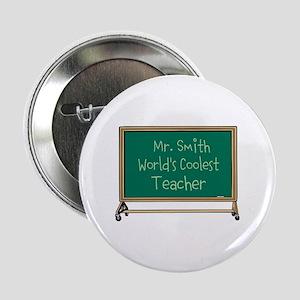 """World's Coolest Teacher 2.25"""" Button"""