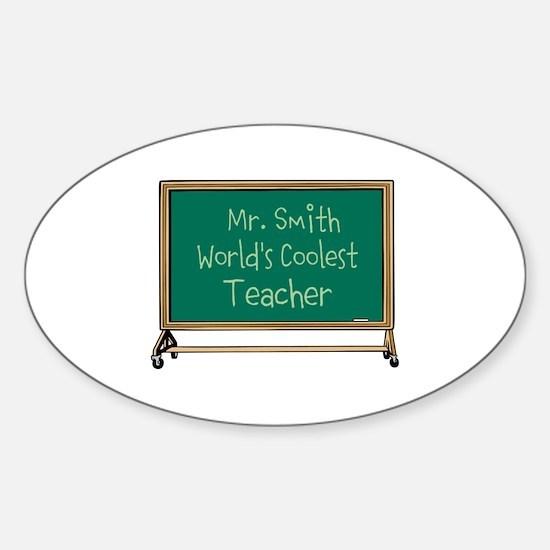 World's Coolest Teacher Sticker (Oval)