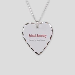 School Secretary School Universe Necklace Heart Ch