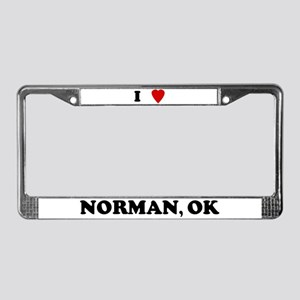 I Love Norman License Plate Frame