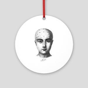 Phrenology Ornament (Round)
