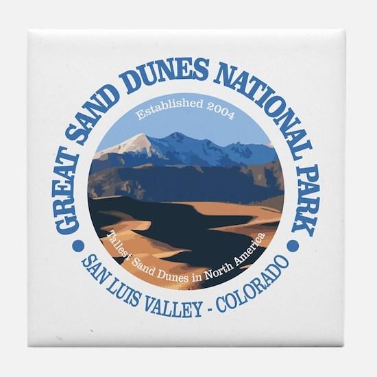 Great Sand Dunes NP Tile Coaster
