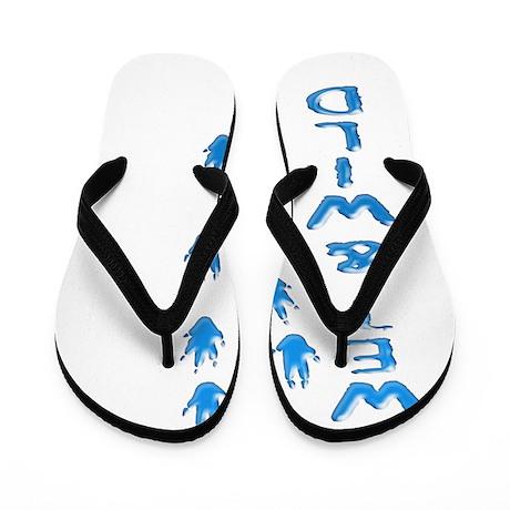 Wet and wild Armadillo Flip Flops