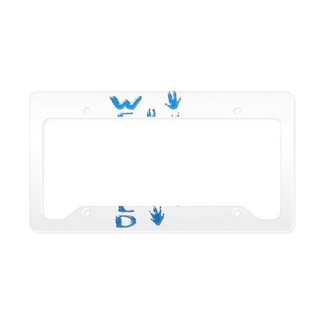 Wet and wild Armadillo License Plate Holder