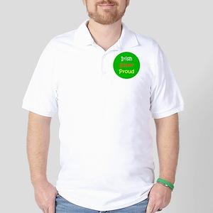 Irish Sober Proud St. Patrick's Day Golf Shirt