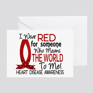 Means World To Me 1 Heart Disease Greeting Card
