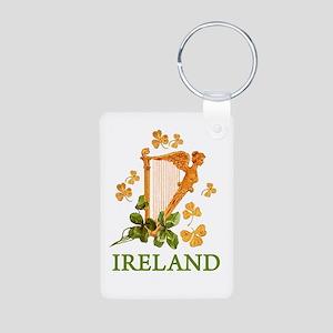 Ireland - Irish Golden Har Aluminum Photo Keychain