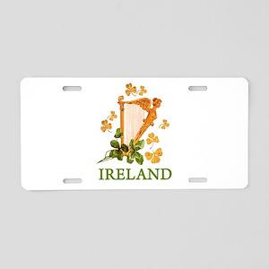 Ireland - Irish Golden Harp Aluminum License Plate