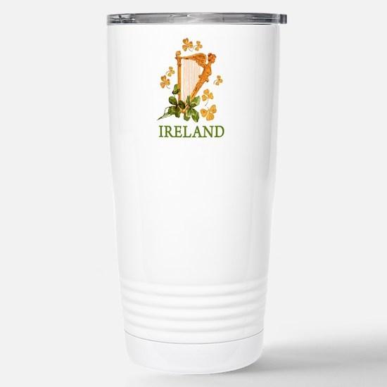 Ireland - Irish Golden Stainless Steel Travel Mug