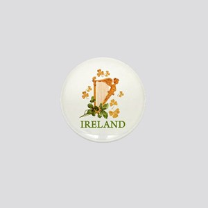 Ireland - Irish Golden Harp Mini Button
