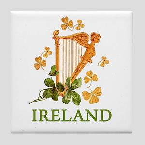 Ireland - Irish Golden Harp Tile Coaster