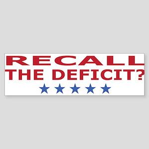 recall the deficit? Sticker (Bumper)