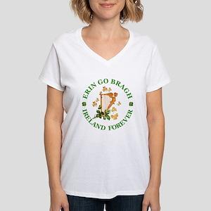 Erin Go Bragh Women's V-Neck T-Shirt