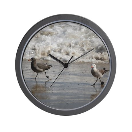 Seagulls 72283 Wall Clock By Californiadreamsphotography