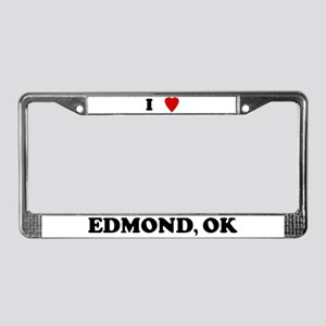 I Love Edmond License Plate Frame