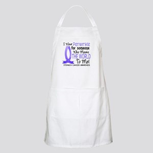 Means World To Me 1 Stomach Cancer Apron