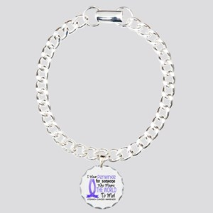 Means World To Me 1 Stomach Cancer Charm Bracelet,