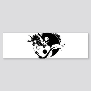 Yin Yang Dragon Sticker (Bumper 10 pk)