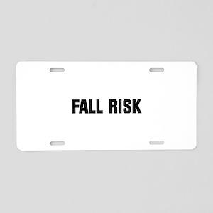 Fall Risk Aluminum License Plate