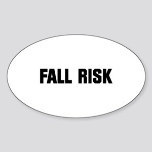 Fall Risk Sticker (Oval)