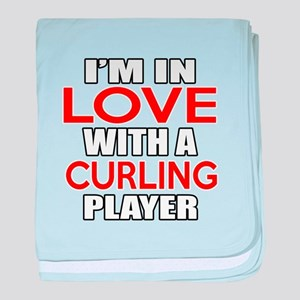 I Am In Love With Curling Player baby blanket