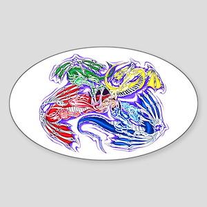 Freeing Dragon Oval Sticker