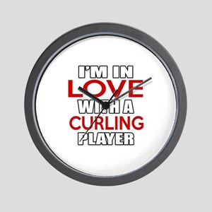 I Am In Love With Curling Player Wall Clock