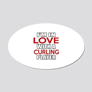 I Am In Love With Curling Pl 20x12 Oval Wall Decal