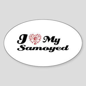 I love My Samoyed Sticker (Oval)
