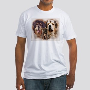 tibetan Mastiff family group Fitted T-Shirt