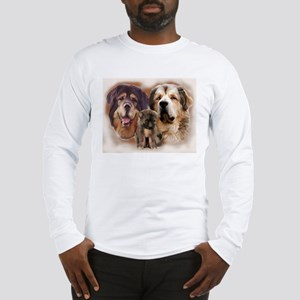 tibetan Mastiff family group Long Sleeve T-Shirt