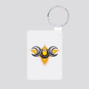 Yellow Pagan Triple Goddess Aluminum Photo Keychai