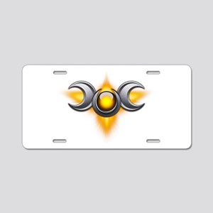 Yellow Pagan Triple Goddess Aluminum License Plate