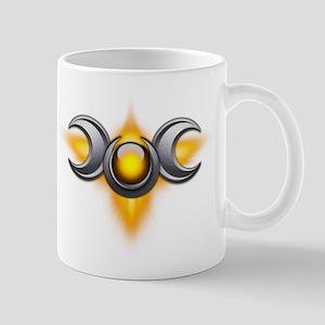 Yellow Pagan Triple Goddess Mug