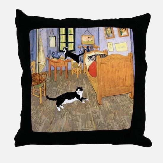Vincent's CATS Throw Pillow