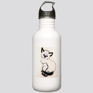 Siamese Cat Art Stainless Water Bottle 1.0L