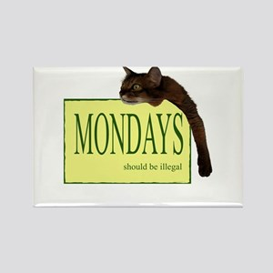 Mondays Should Be Illegal Rectangle Magnet