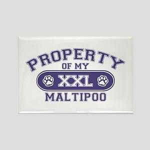 Maltipoo PROPERTY Rectangle Magnet