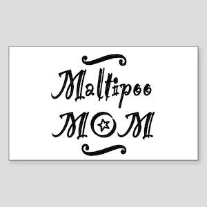 Maltipoo MOM Sticker (Rectangle)