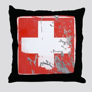 Hospital STREET SIGN Throw Pillow