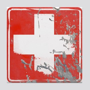 Hospital STREET SIGN Tile Coaster