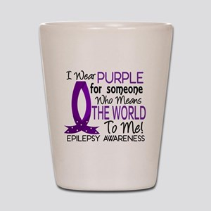 Means World To Me 1 Epilepsy Shirts Shot Glass