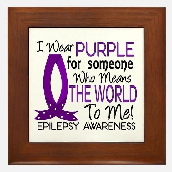 Means World To Me 1 Epilepsy Shirts Framed Tile