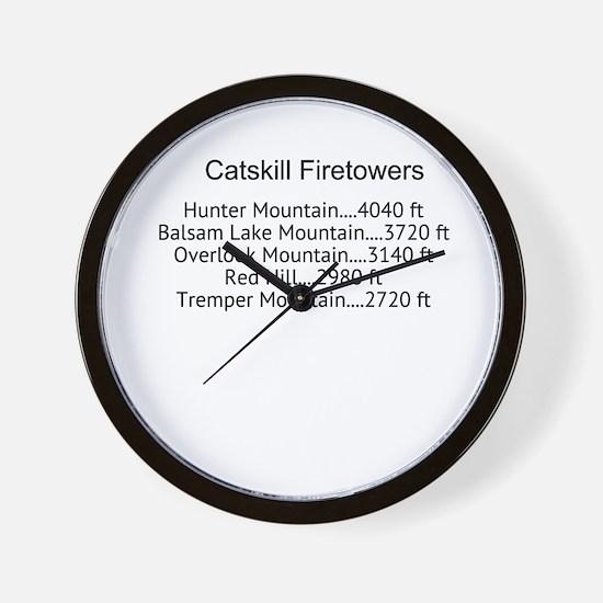 Catskill Firetowers Wall Clock