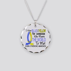 Means World To Me 1 Down Syndrome Shirts Necklace