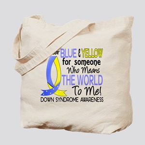 Means World To Me 1 Down Syndrome Shirts Tote Bag