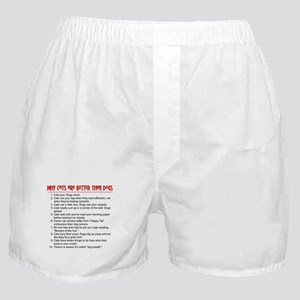 Cats Are Better Than Dogs Boxer Shorts