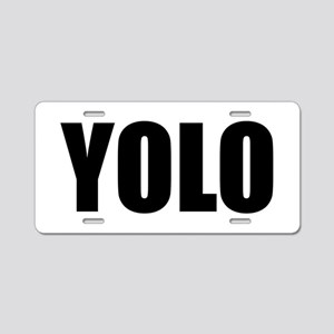 YOLO (You Only Live Once) Aluminum License Plate